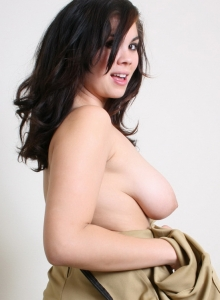 Busty Babe Mai Ly Strips Out Of Her Slutty Girl Scout Uniform - Picture 5
