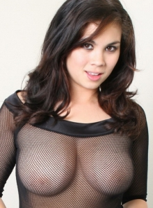 Cock Tease Mai Ly Shows Off Her Big Breasts In A Slutty Little Mesh Top - Picture 5